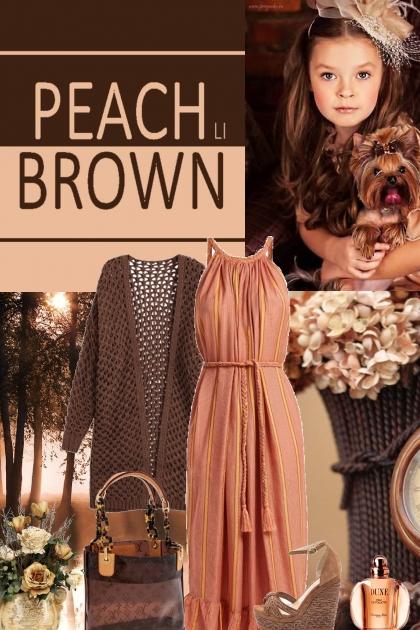 Peach / Brown