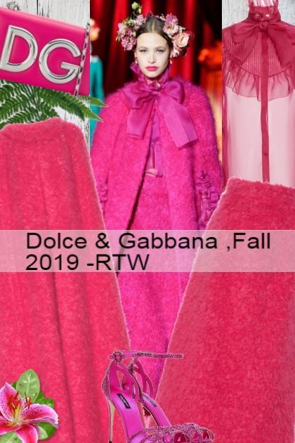Dolce & Gabbana ,Fall 2019 -RTW 5- Combinaciónde moda