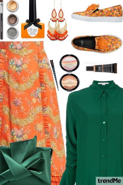 Green-Orange Summer Combination