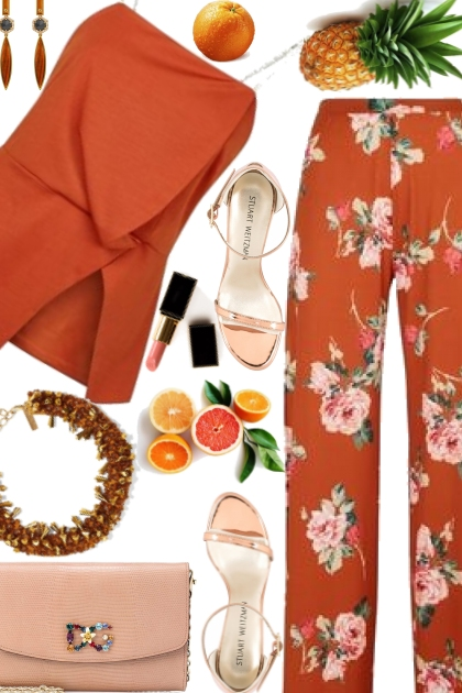Summer combination in orange color