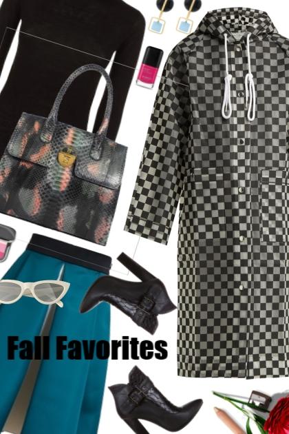 Proenza Schouler - Checkerboard raincoat