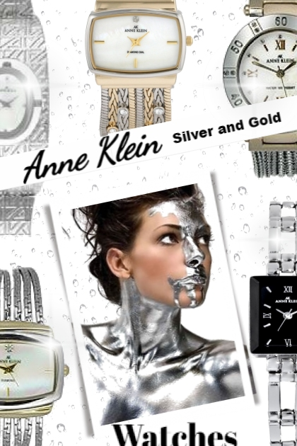 Anne Klein Silver & Gold Watches