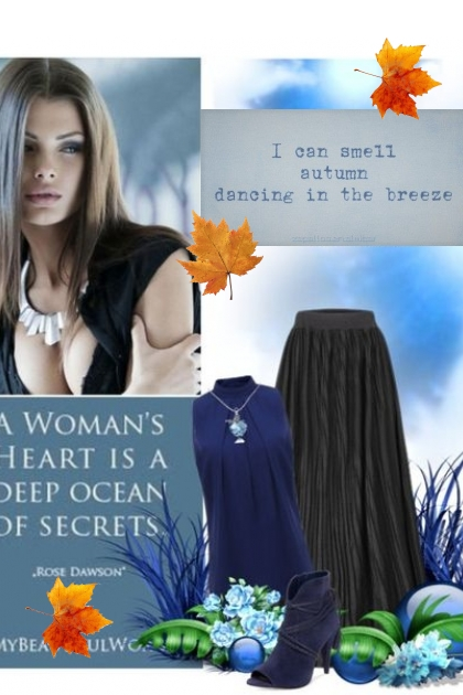 Jesenje plava- Fashion set