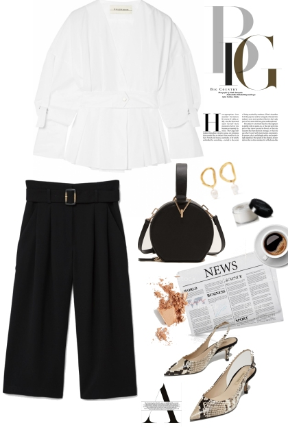Black & White Office Outfit