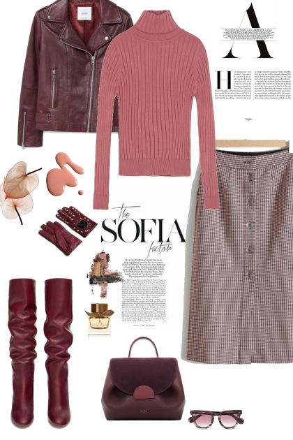 Burgundy & Blush Pink