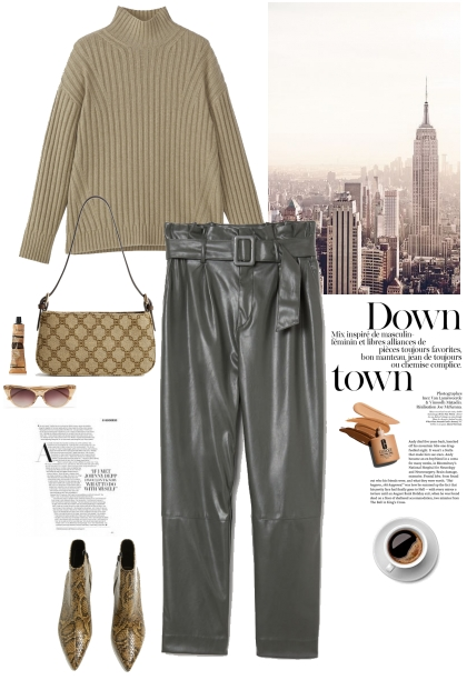 How to wear leather pants No2