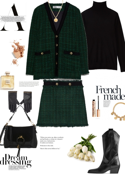 Tweed suit day option