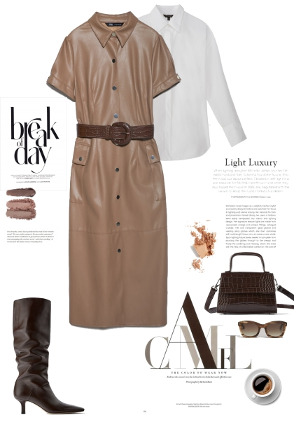 How to wer leather dress
