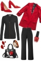 RED AND BLACK FALL WORK WEAR