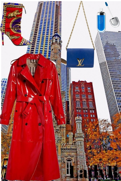 Red Trench Woman