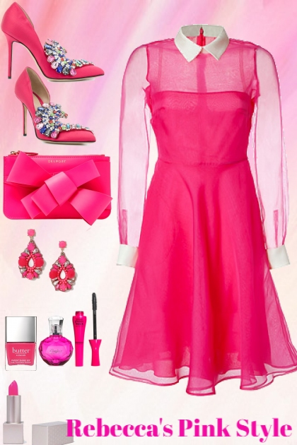 Pink Style 12/3 For Casual Party- Fashion set
