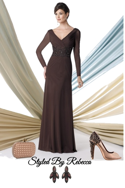Brown Gown Style