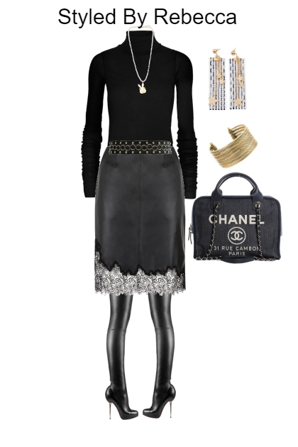 Work In Black Chic Skirts