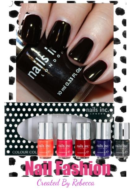 Nail Fashion-black polish