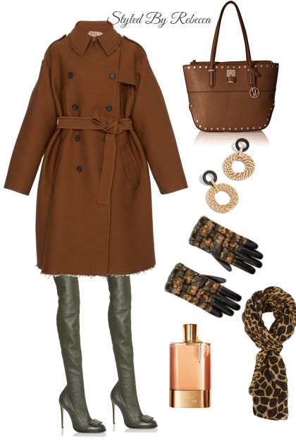 Winter Brown Trench