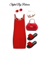 Casual Red Dress For Your Valentine