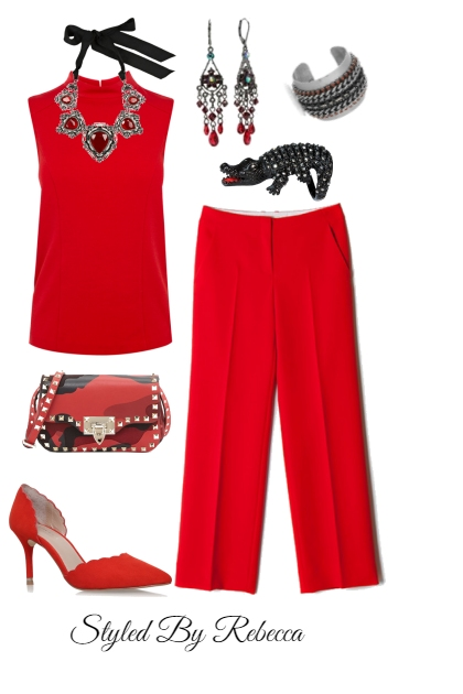 Red For Days-Working Cute