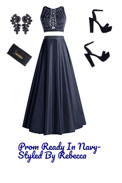 Prom Ready In Navy