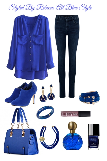 All Blue casual Style For Work-3/11