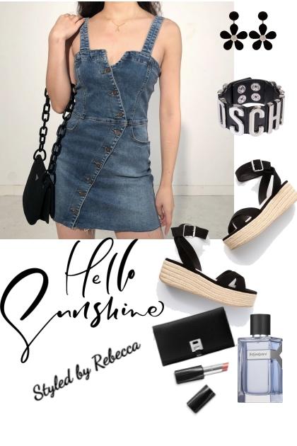 Hello Summer Jean Dress