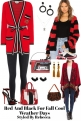 Red Black Looks For cool Weather Fall Wear