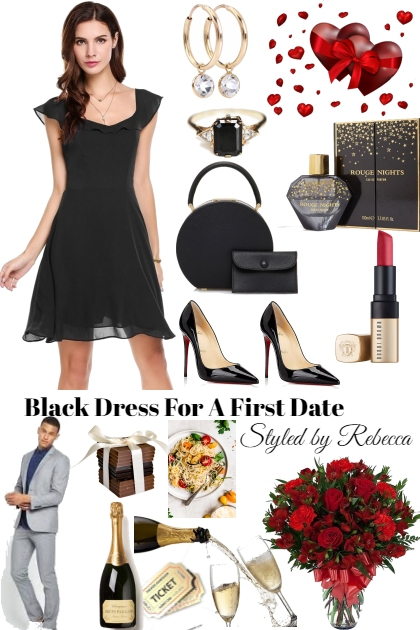 Black dress for a first date