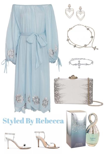 Blue Sky Dress For A Romantic