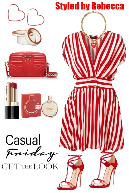 Red and White Casual Friday