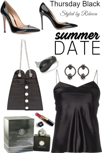 summer dates in black tanks