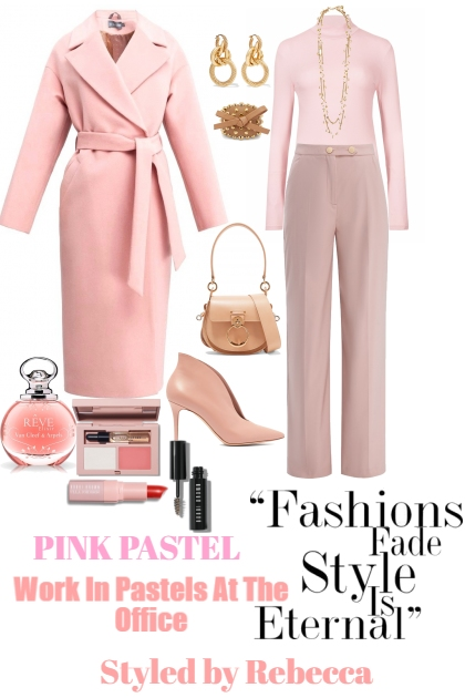 PINK PASTEL WORK OFFICE LOOK