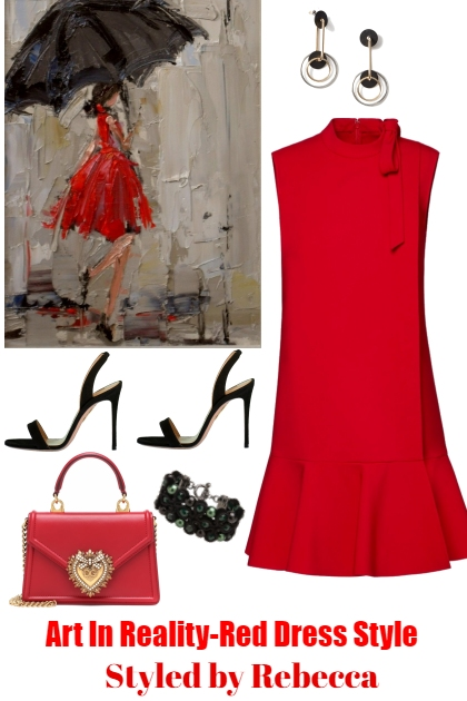 Art In Reality-Red Dress Style