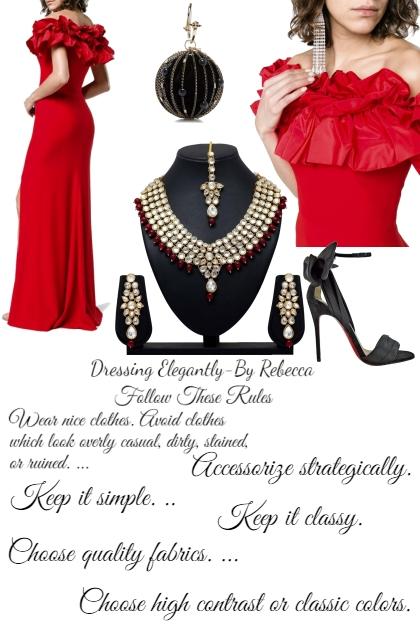 Dressing Elegantly Rules
