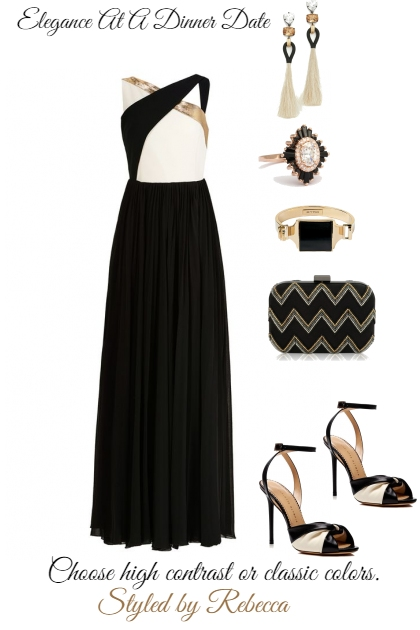 Dinner Dress-High contrast or Classic colors