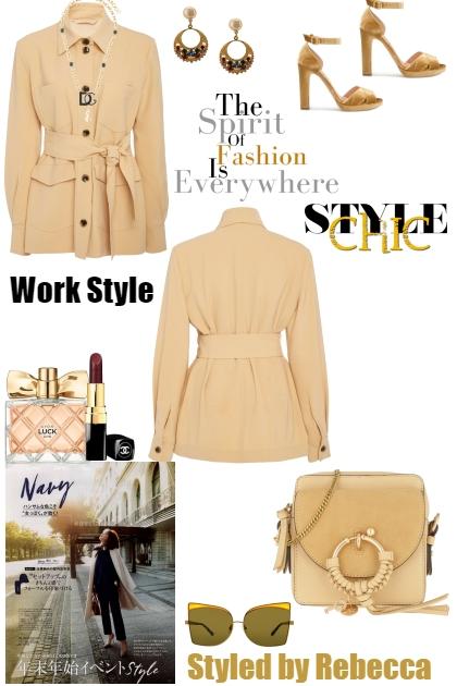 Work Style Jackets- combinação de moda