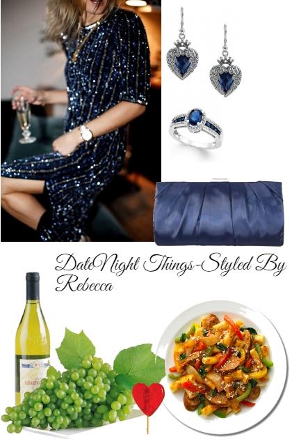 Date Night Things-Dinner Date ,Blue Bling