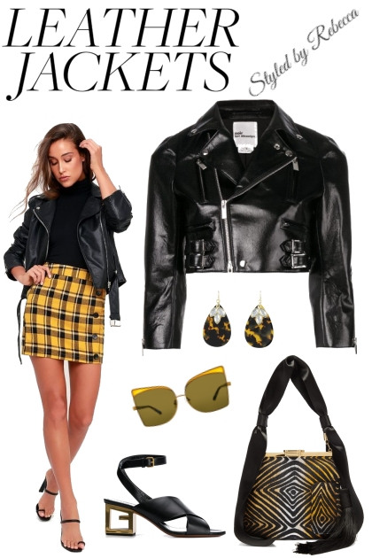 9/22-Leather Jackets- Combinaciónde moda