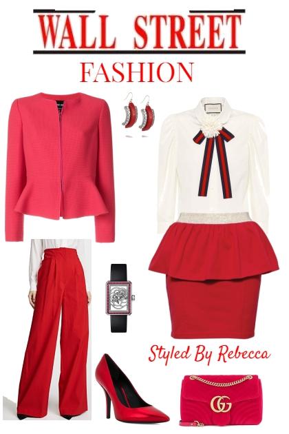 Wall Street Fashion -Red- Modna kombinacija