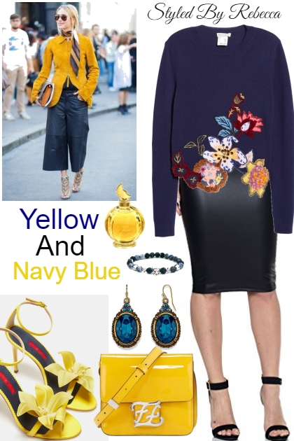 Yellow And Navy Blue