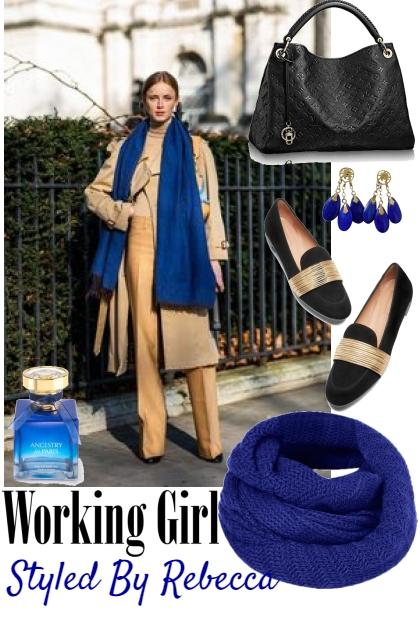 Working Girl Thursday -Blue Scarf
