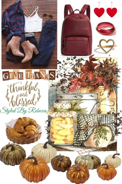 Give Thanks For Your Blessings- Fashion set