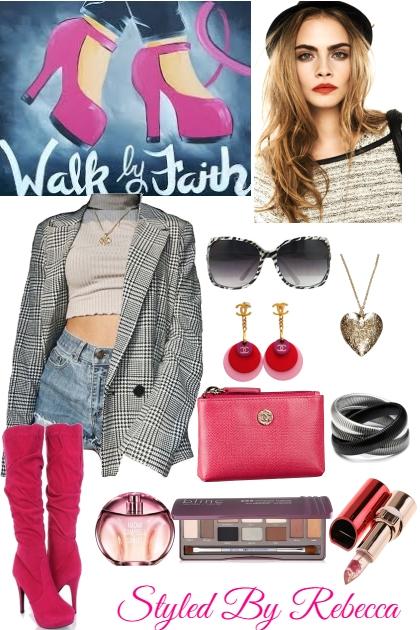 Street Fun In Pink Boots