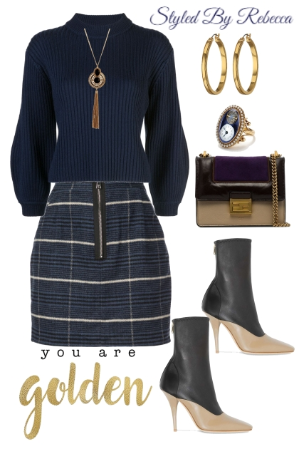 Navy and Gold For The Cold