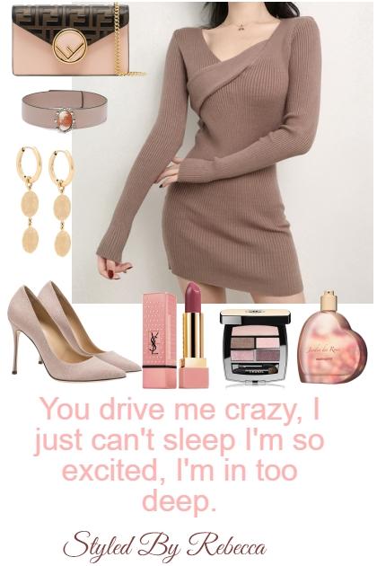 Drive Me Crazy Cute Sweater Dress