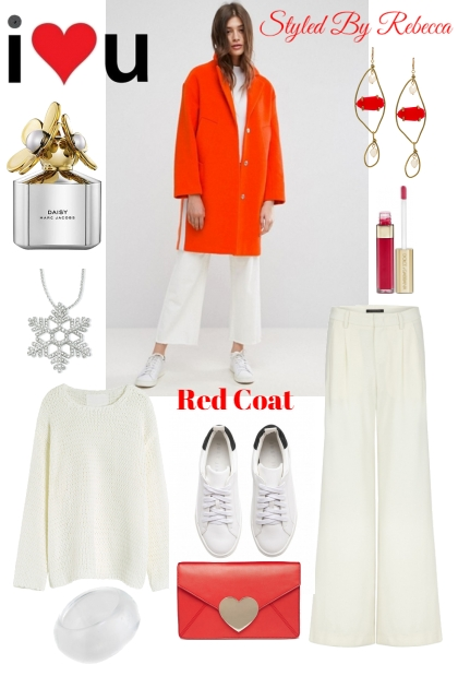 Red Coat-Winter Casual