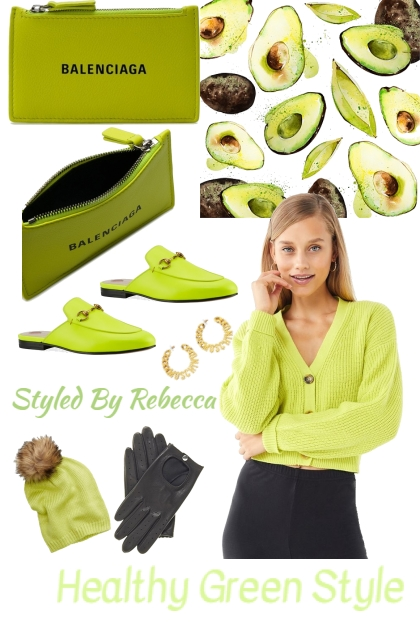 Healthy green style- Fashion set