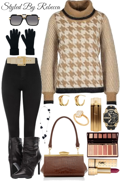 Winter Sweater and Warm Tones