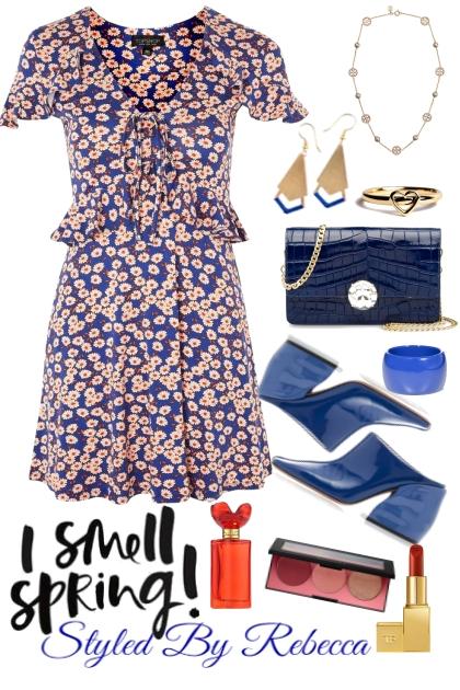 i Smell Spring-Floral Dress Time- Modna kombinacija