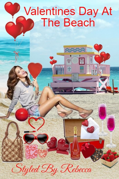 Valentines Day At The Beach- Combinaciónde moda