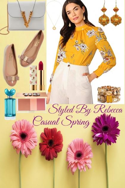 Floral Top Casual Spring Attire
