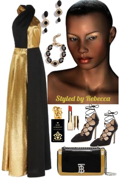Half Black /Half Gold Diva